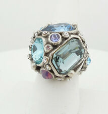 NEW SWEET ROMANCE OLLIPOP PASTEL CRYSTAL GEOMETRY ADJUSTABLE RING