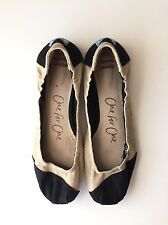 Toms One For One Black & Burlap Ballet Flats Size US 8.5