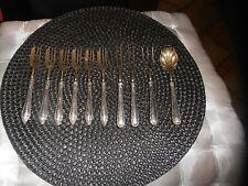 Antikes silbernes 10teiliges Besteck mit goldener Laffe Jugendstil Punze 800