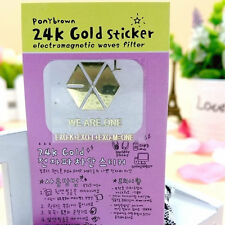 Hot Korean Star Team EXO Gold Anti-Radiation Stickers For Phone Computer PSP
