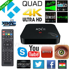 MX3 MXIII 4K S812 1080P Quad Core Android4.4 Smart TV BOX XBMC Kodi Media Player