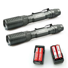 2x 10000LM Adjustable T6 Cree XM-L Led Flashlight Torch Light+18650+Dual Charger