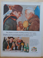 1953 magazine ad for Canada Dry - Football fans disagree on all but Canada Dry