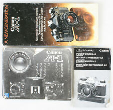 CANON A-1 MANUALS SET OF 3