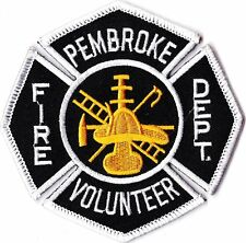 Pembroke Fire Dept.  patch NEW