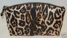 NEW VICTORIA'S SECRET CHEETAH ANIMAL PRINT LARGE MAKEUP BAG COSMETIC POUCH CASE