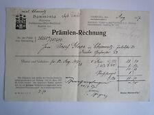PRÄMIEN-RECHNUNG von 1927 der Hammonia-Versicherung