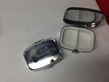 BMW 2002 ref26 pewter effect car emblem on silver metal pill box
