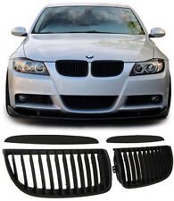 FRONT GRILLS BLACK FOR BMW E90 E91 05-08 LIMO + TOURING 4 PIECES BODY KIT NEW