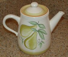 Ultra Rare New Condition Franciscan Large Fruit (Pear) Pattern Coffee Pot NO LID
