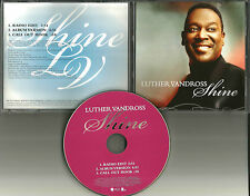 LUTHER VANDROSS Shine w/ RARE RADIO EDIT PROMO DJ CD single 2006 USA MINT