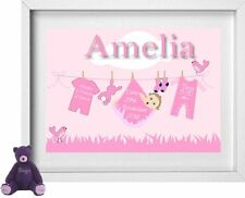 BABY GIRL NAME | Personalised Picture | New Baby | Gift | FREE POST | (NP158)