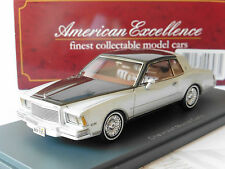 CHEVROLET MONTE CARLO METAL SILVER BLACK 1970 NEO 44793 1/43 SILBER ANTHRACITE