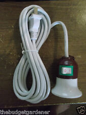 100 WATT CAPACITY DIY HANGING LAMP SOCKET WITH 10 FOOT CORD- MULTIPLE USES!