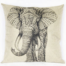 Elefante vintage Funda De Almohada decorativa Pillowcase