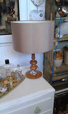 Original vintage 1960s/70s lamp with large vintage shade