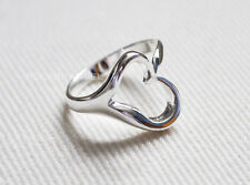 925 Silver Plated Hollow Heart Ring  / Thumb Ring, Fully Adjustable - gift