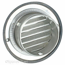 Stainless Steel Wall Air Vent Bull Nose Bathroom Extractor Grille Louvres 150mm