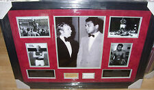 BOBBY MOORE and MUHAMMAD ALI SIGNED MONTAGE AFTAL