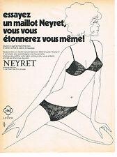PUBLICITE ADVERTISING 024   1970   NEYRET OBTEL  maillot de bain