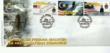 Submarine Ship Navy Vehicle Transport Malaysia 2009 War Weapon (stamp FDC)