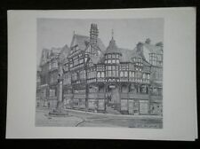 POSTCARD CHESHIRE CHESTER - THE ROWS PENCIL SKETCH