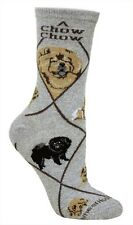 Chow Chow Gray Dog Socks 9-11 made in the USA