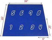 "8 Blue Generic 32x16 or 10""x5"" baseplate cover 4 10x10 base plates +1 lego"