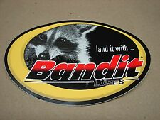 "Bandit Lure Land it with Bandit Lues Fishing Sticker 4""x6"" oval"