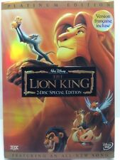 Disney The Lion King (DVD, 2003, 2-Disc Set, Platinum Edition;with featured song