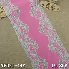 Lace Flowers Texture Elastic Thickening Lace Fabric Dress Bag DIY L2971