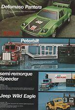 Publicité DETOMASO PANTERA  voiture telecommandée vintage vintage toy ad  1981