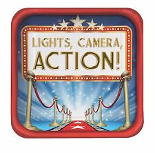 Hollywood 'Lights, Camera, Action' - Movie Theme Birthday Party Paper Plates