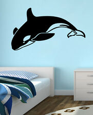 New Orca Killer Whale Black Wall Decal Wall Stickers Large 100 cm X 58 cm