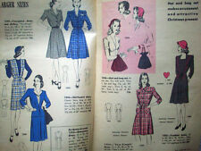 Hollywood Patterns Dec 1943 1940's small brochure of new patterns