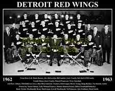 1963 DETROIT RED WINGS TEAM PHOTO 8X10