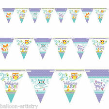 4.5m Forest Fun Woodland WELCOME Baby Shower Party Pennant Banner Bunting