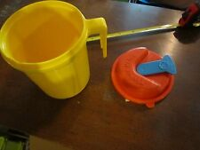 Fisher Price Fun with Food Picnic Cooler Thermos Pitcher Orange Yellow 1985