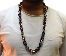 HIP HOP CHAIN NECKLACE • LONG 33cm • MIXED • METAL • COSTUME #200
