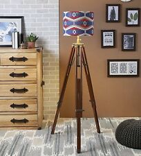 NAUTICAL ANTIQUE SPOT SEARCH LIGHT SEARCHLIGHT STUDIO FLOOR TRIPOD LAMP
