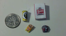 Dollhouse Miniature Take out Food 1:12 one inch scale hamburger & fries  W G22