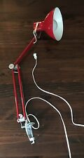 VIntage Retro Red Floating Ariculating Arm Desk Drafting Lamp Light w/Clamp