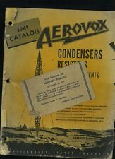 1941 Aerovox Radio & Electric Products Catalog Manual