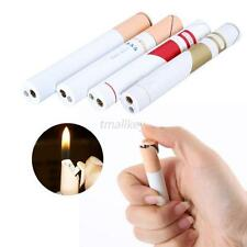 Metal Cigarette Shaped Refillable Butane Gas Jet Flame Cigar Lighter Random