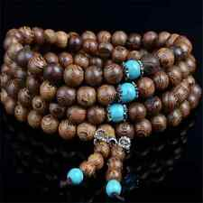 6mm Sandalwood Buddhist Meditation 108 Prayer Bead Mala Bracelet Necklace Buddha