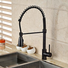 Oil Rubbed Bronze Pull Down Sprayer Kitchen Sink Faucet Single Hole Mixer Tap