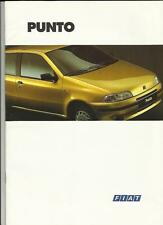 FIAT PUNTO 55S, TDS, SX-SELECTA, GT  AND  ELX CABRIO SALES BROCHURE 1994