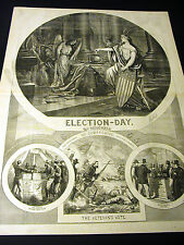 Thomas Nast ELECTION DAY Citizens Veterans ANTI-SLAVERY VOTE 1864 Large Print