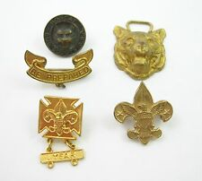 Lot of 5  BOY SCOUTS Vintage PINS Year, Bobcat, Be Prepared, Eagle & Others