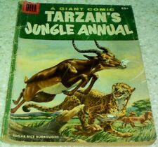 Tarzan's Jungle Annual 5, (VG- 3.5) 1956 Marsh art, 100 pages! 50% off Guide!